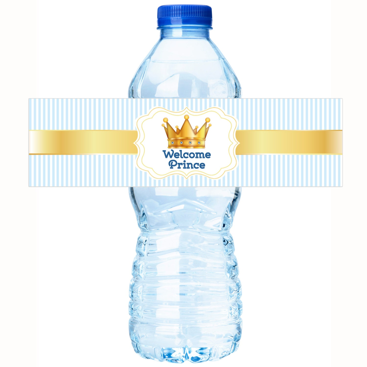 Personalized Welcome Prince Baby Shower Water Bottle Labels
