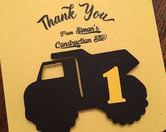 Dump Truck Gift Tags --- Gift Tags -- Construction Party Tags -- Thank You Gift Tag