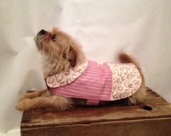 Baseball Pet Coat/boy dog clothes/pet jacket/dog apparel/small dog coat/custom dog jacket/Red dog coat/dog coat/pet clothes/new dog gift