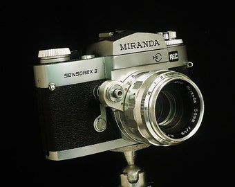 Vintage MIRANDA SENSOREX II 35mm Film Camera, Soligar Miranda 50mm f/1.9 lens, New light Seals & Mirror Pad, Circa: 1972, Super Condition!