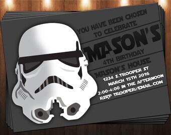 STORM TROOPER INVITATION star wars.