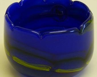 Vintage Glassware - Vintage 1980s Mtarfa Malta Art Glass Vase