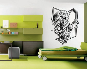 Wall Vinyl Sticker Decals Mural Room Design Decor Art Zombie Mummy Grave Dead Skeleton Horror Movie bo2553