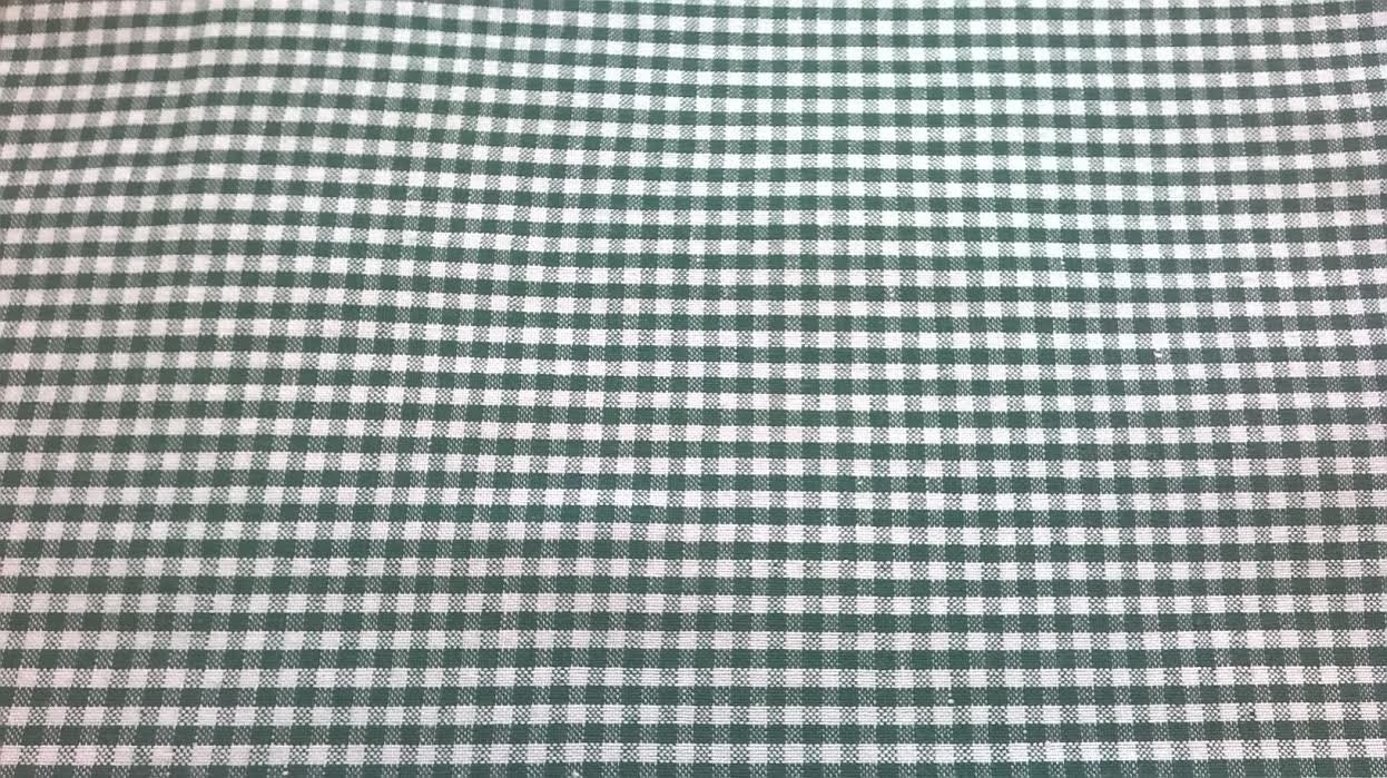 Green gingham fabric green and white check cotton fabric for Gingham fabric