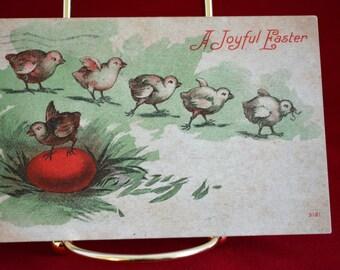 Vintage Postcard, Easter Postcard, Holiday Postcard, Antique Postcard, 1910, Easter Peeps, Easter Chicks, Animal Postcard, Ephemera, Epsteam