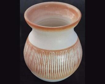 small wheel-thrown vase
