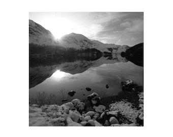 Black & White Photo Loch Eilt