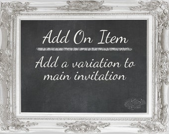 Add On - Add a Variation to Main Invitation