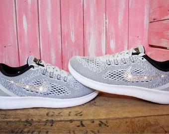 Swarovski Nike Free RN Running Shoes Customized With Swarovski Crystals