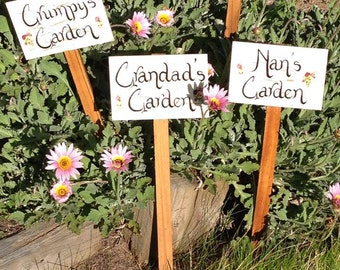 GARDEN STAKES/Garden Signs/personalized Garden signs