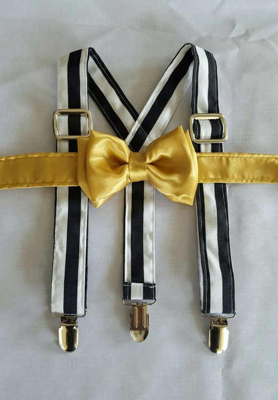 items similar to bow tie and suspenders gold bow tie and