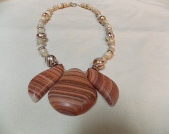 One of a kind Hand made Agate necklace