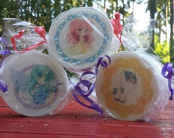 Anime candy wrapped soap set