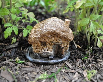 Thatched-Roof Fairy House
