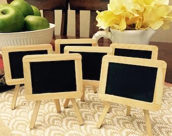 Six Art Easel Chalkboard Table Marker, Chalkboard Table Number, Wedding Decoration Centerpiece
