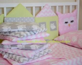 Baby bedding set bumper crib protector