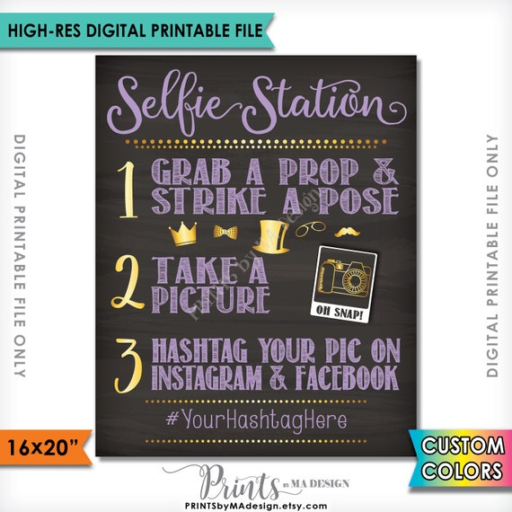 It's just an image of Universal Selfie Station Sign Free Printable