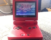 Nintendo Gameboy Advance SP Minish Cap Bundle (Mario Red)