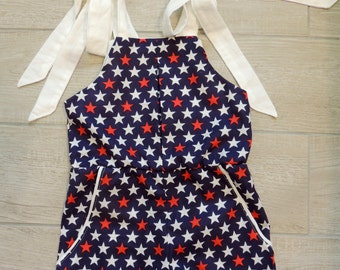 Romper - Girls Romper - Toddler Romper - Baby Romper - USA Romper - Fourth of July Outfit - Fourth of July Romper - Patriotic Romper