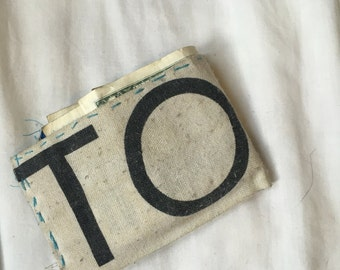 Handmade TOMS Flag Cloth Wallet