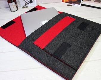 MacBook Pro sleeve, MacBook Retina case, 15 inch laptop case, laptop sleeve, laptop case, MacBook sleeve 15, laptop pouch, felt laptop case