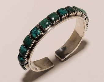 925 Solid Sterling Fine Silve  Christmiss Gift Tibetian Turquoise Bangle