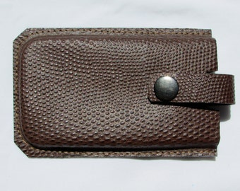Leather cellular phone case