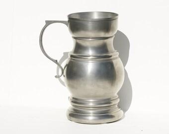 Pewter Mug, Pewter Pitcher, German Tin Mug, Rein Zinn Pitcher, Pewter Pitcher, Water Jug, Pewter Water Pitcher