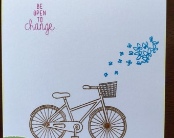 Handmade Be Open To Change Card