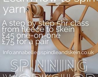 Workshop Handspinning Class Spinning Tuition Exeter Devon British Wool