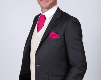 Matchimony Bright Pink Men's Handkerchief