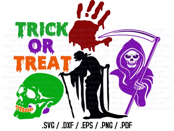 happy halloween clipart halloween svg file zombie hand skull grim reaper svg screen printing silhouette die cut machine ca348 from