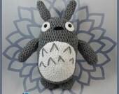 Crochet Totoro - READY TO SHIP - Amigurumi Plush Doll - Anime gift - My Neighbor Totoro - Studio Ghibli Plushie