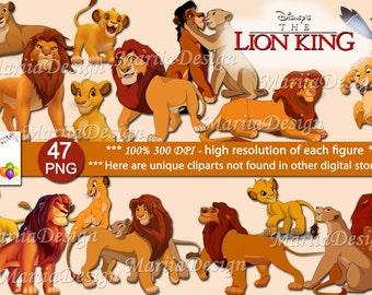 Lion King Clipart - 47 PNG, 300 Dpi, Lion King clip art, lion king png, rey leon, lion king party, lion king digital, lion king birthday