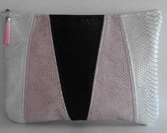 """Wallet croco bag faux leather tricolor model """"ADARA"""""""