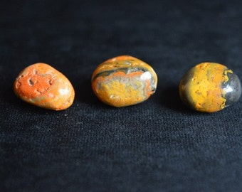 Bumblebee Jasper Crystal Tumblestones for healing, Reiki and meditation