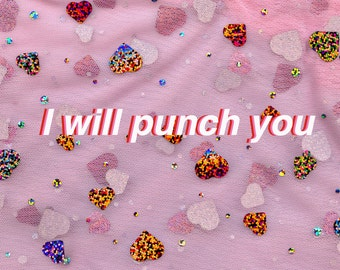 I will punch you hearts, inkjet print