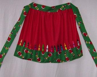 Crayon Apron McDonald's Christmas Grinch