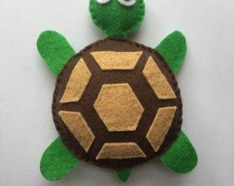 Felt Turtle Catnip Cat Toy Handmade