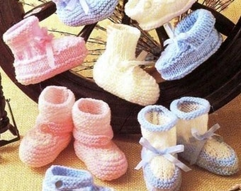 PDF Baby Shoes &  Bootees Knitting Pattern – Vintage, Retro, Baby Shoes, Bootees - PDF instant download