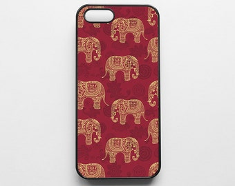 Red Elephant Pattern iPhone 6 Case iPhone 6s Case iPhone 6 Plus Case iPhone 6s Plus Case iPhone 5s Case iPhone 5 Case iPhone SE Case