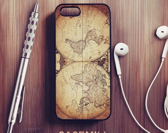 Vintage World Map iPhone 6 Case Vintage iPhone 6s Case iPhone 6 Plus Case iPhone 6s Plus Case iPhone 5s Case iPhone 5 Case iPhone 5c Case