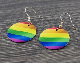 Rainbow Pride Round Earrings