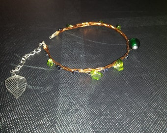 Simple elven / forest spirit bracelet
