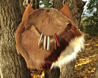 FREE SHIPPING!!! leather shoulder bag, cross body,fur,boho,hippie,chic,gypsy,tribal,native,bolso,piel,étnico,ethnic