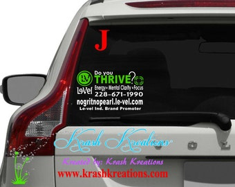 "Do you Thrive back window decal, #J, Level promoter decal, thrive. [[ READ the ""item details"" for ALL info! ]]"