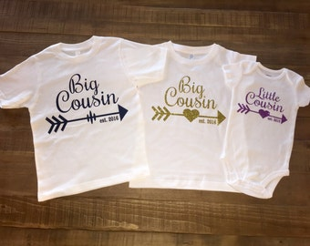 Personalized Set of 3 Cousin TShirts