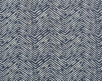 SALE! 1/2 or 1 Yard Navy White Fabric By The Yard - Premier Prints Moroccan