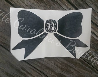 Preppy Bow Decal with Monogram