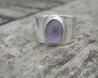 Ring Sterling Silver Amethyst Gemstone Classic